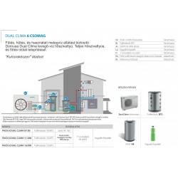 24 kW-os 1 fázisú Levegő-Víz hőszivattyús rendszer fűtés, hűtés, és használati melegvíz ellátásra komplett beüzemeléssel