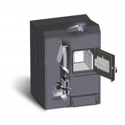 DualTherm professzionális pellet, és hasábfa tüzelésű kazán 25 kW