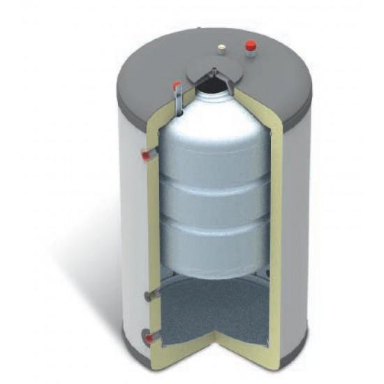 Domusa BT DUO HE 180/60 puffer, és saválló használati melegvíz tartály hőszivattyús rendszerekhez