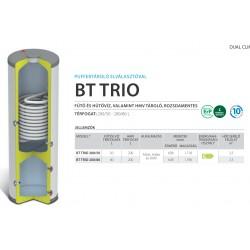 Domusa BT Trio 200/50 saválló puffer tartály fűtésre-hűtésre, és saválló használati melegvíz tartály