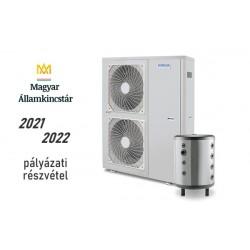 16 kW-os 1 fázisú Levegő-Víz hőszivattyús rendszer fűtésre, hűtésre, komplett beüzemeléssel