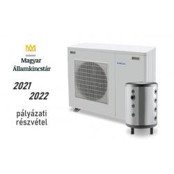 9 kW-os Levegő-Víz hőszivattyús rendszer fűtésre, hűtésre, komplett beüzemeléssel 100%-os pályázati kiírásra