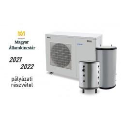 6 kW-os Levegő-Víz hőszivattyús rendszer fűtésre, és vagy hűtésre, használati melegvíz ellátásra komplett beüzemeléssel
