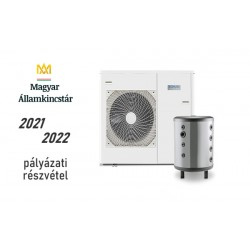 12 kW-os Levegő-Víz hőszivattyús rendszer fűtésre, hűtésre, komplett beüzemeléssel
