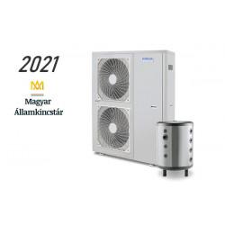 16 kW-os Levegő-Víz hőszivattyús rendszer fűtésre, és hűtésre, komplett beüzemeléssel