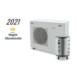 8 kW-os Levegő-Víz hőszivattyús rendszer fűtésre, és hűtésre, komplett beüzemeléssel