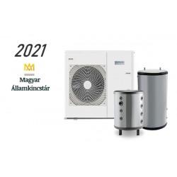 11 kW-os Levegő-Víz hőszivattyús rendszer fűtésre, hűtésre, és használati melegvíz ellátásra komplett beüzemeléssel