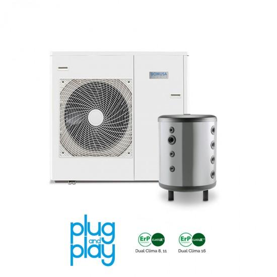 11 kW-os Levegő-Víz hőszivattyús rendszer fűtésre, hűtésre, komplett beüzemeléssel