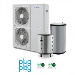 16 kW-os Levegő-Víz hőszivattyús rendszer fűtésre, hűtésre, és használati melegvíz ellátásra komplett beüzemeléssel