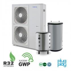 16 kW-os 1 fázisú Levegő-Víz hőszivattyús rendszer fűtés, hűtés, és használati melegvíz ellátásra komplett beüzemeléssel